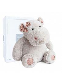 Nilpferd Hippo Girl, 38cm Plüschtier im Karton Histoire d'Ours   Kuscheltier.Boutique