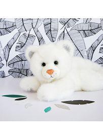 Panther, 23cm weiß Plüschtier Histoire d'Ours | Kuscheltier.Boutique