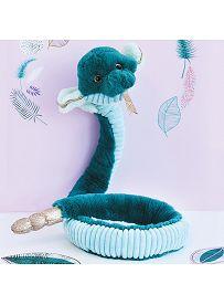 Cobra, 135cm smaragdgrün Plüschtier Histoire d'Ours | Kuscheltier.Boutique