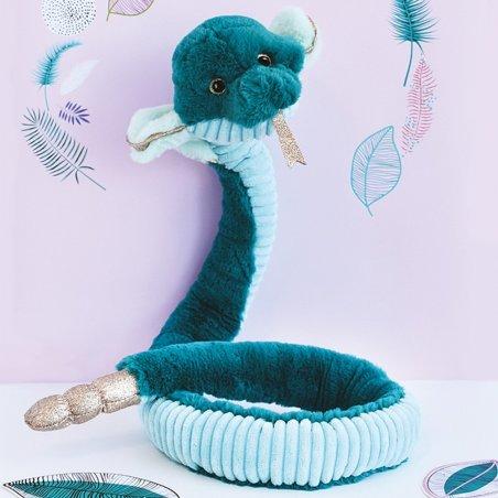 Cobra, 135cm smaragdgrün Plüschtier Histoire d'Ours   Kuscheltier.Boutique