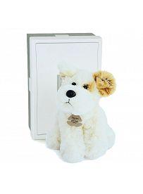 Terrier Brownie weiß, 23cm Plüschtier in Geschenkkarton Histoire d'Ours   Kuscheltier.Boutique