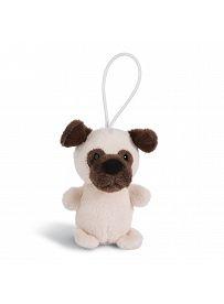 Anhänger Mops cremebeige, Vorderseite | NICI Dog Friends 2020
