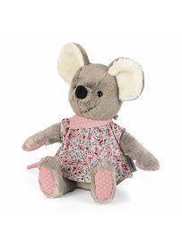 Maus Mabel rosa, 20cm | Sterntaler Kuscheltier mit Rassel