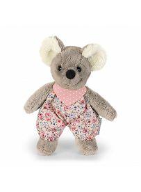 Maus Mabel rosa, 17cm | Sterntaler Kuscheltier mit Rassel