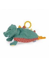 Krokodil Konrad, petrolgrün  Sterntaler Schmusetuch mit Beißring und Rassel