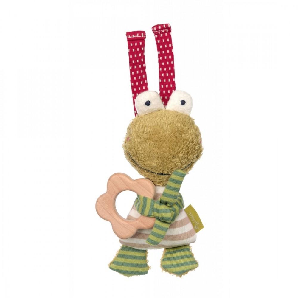 Greifling Frosch mit Holzring, 13cm | sigikid GREEN Bio Collection