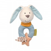 Greifling Hase hellblau mit Holzring, 14cm | sigikid GREEN Bio Collection