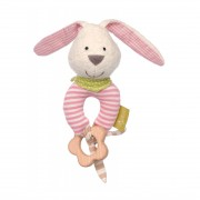 Greifling Hase rosa mit Holzring, 14cm | sigikid GREEN Bio Collection