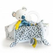 Koala Schmusetuch, 21cm Schmusetuch mit Rassel im Karton Histoire d'Ours