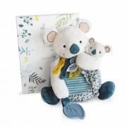Koala, 25cm mit Baby und Beißring im Karton Histoire d'Ours