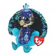 Pfau Tyson, türkis-blau 15cm | Ty Flippables