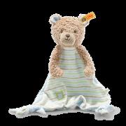 Steiff - Knopf im Ohr: GOTS Teddybär Ruby Schmusetuch, 24cm hellblau