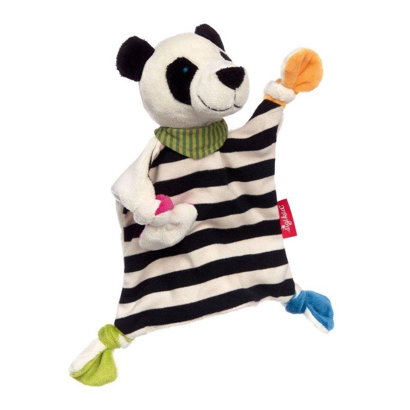 sigikid für Babys: Panda schwarz-weiß, Schmusetuch