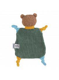 Teddybär Ben, Rückseite   Sterntaler Schmusetuch ohne Rassel