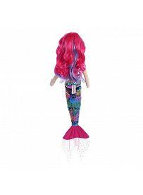 Aurora Sea Sparkles Rainbow: Meerjungfrau Fuchsia, Rückseite | Kuscheltier.Boutique