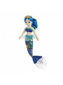 Aurora Sea Sparkles Rainbow: Meerjungfrau Indigo, Vorderseite | Kuscheltier.Boutique