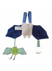 sigikid für Babys: Fledermaus blau, Spielanhänger Rückseite   Kuscheltier.Boutique