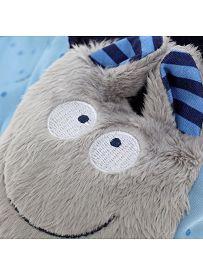sigikid für Babys: Fledermaus blau, Schmusetuch Gesicht   Kuscheltier.Boutique