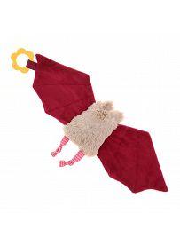 sigikid für Babys: Fledermaus rosa, Schmusetuch Rückseite | Kuscheltier.Boutique