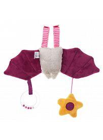 sigikid für Babys: Fledermaus rosa, Spielanhänger Rückseite | Kuscheltier.Boutique