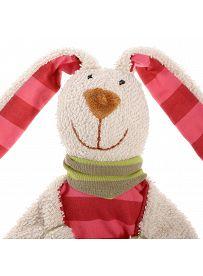 sigikid für Babys: Hasenmädchen beige / pink, Schmusetuch Gesicht   Kuscheltier.Boutique