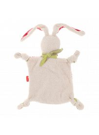 sigikid für Babys: Hasenmädchen beige / pink, Schmusetuch Rückseite   Kuscheltier.Boutique