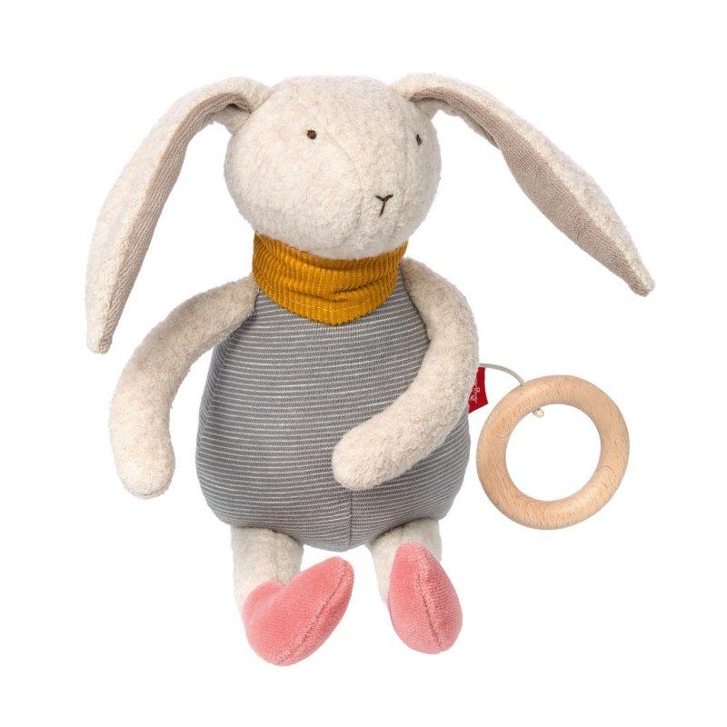 sigikid für Babys: Hase Gold Collection, Spieluhr | Kuscheltier.Boutique
