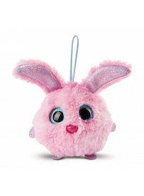 NICIdoos Ballbies: Schlüsselanhänger Hase rosa, Loop Vorderseite | Kuscheltier.Boutique