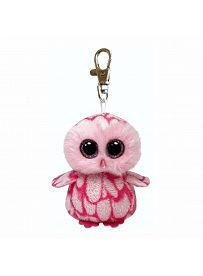 Ty Beanie Boo's: Schlüsselanhänger Eule Pinky, 10cm