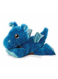 Drache Flash, blau 30cm liegend Aurora Sparkle Tales Plüschtiere | Kuscheltier.Boutique