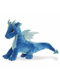 Drache Indigo, 30cm Seitenansicht Aurora Sparkle Tales Plüschtiere | Kuscheltier.Boutique