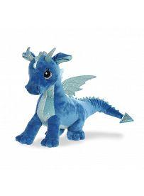Drache Indigo, 30cm Vorderseite Aurora Sparkle Tales Plüschtiere | Kuscheltier.Boutique