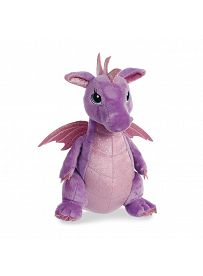 Drache Larkspur, violett 30cm Vorderseite Aurora Sparkle Tales Plüschtiere | Kuscheltier.Boutique