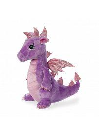 Drache Larkspur, violett 30cm Seitenansicht Aurora Sparkle Tales Plüschtiere | Kuscheltier.Boutique