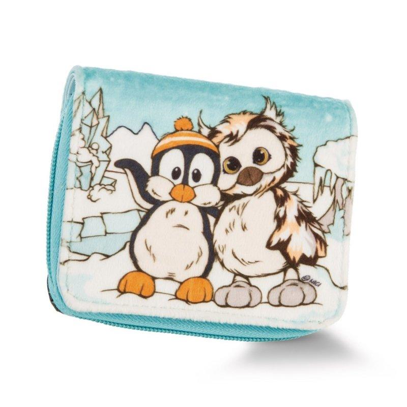NICI Winter Friends: Vorderseite Geldbeutel Eule Aurina, türkis / creme | Kuscheltier.Boutique