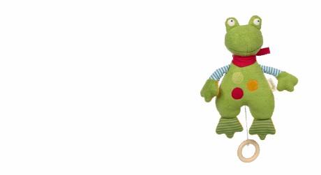 Spieluhr Frosch GREEN Bio von sigikid