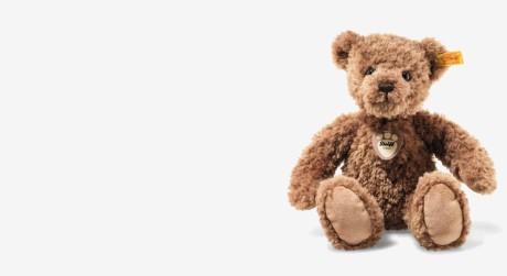 hellbrauner Teddybär der Marke Steiff